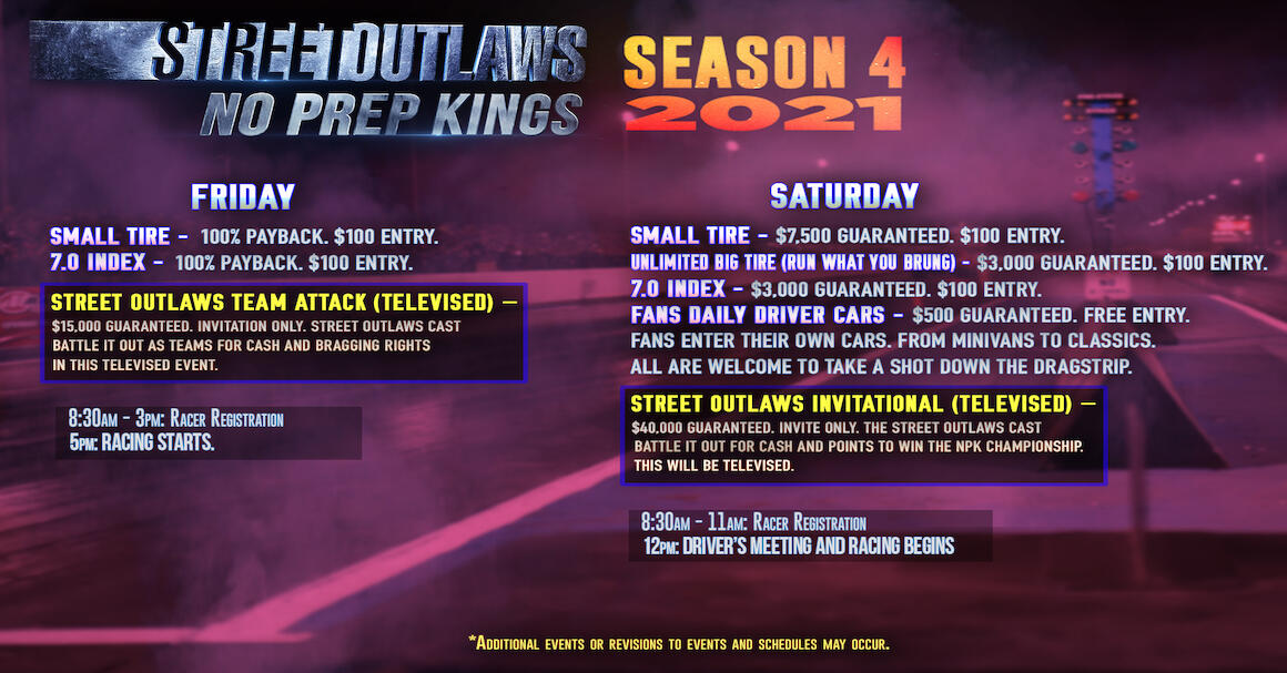 Street Outlaws No Prep Kings Official Tickets